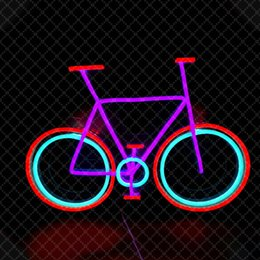 neon sign sports bar UK - Red Purple Sky Blue Bike Sign bike shop Sports Shop Bar Club Home wall decoration handmade neon light sign 12 V Super Bright