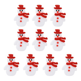 craft embellishment wholesale Australia - 10PC Christmas Decoration Accessories Elk Snowman DIY Craft Embellishment Christmas Decoration DIY navidad navidad For Home