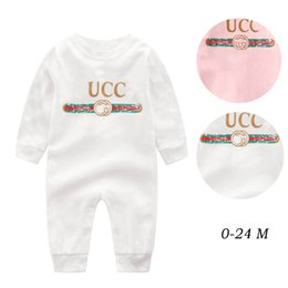 Wholesale unisex long underwear online – 2020 Baby girls clothes spring long Sleeve romper autumn kids Infant clothing Winter underwear Month baby boys jumpsuits B221