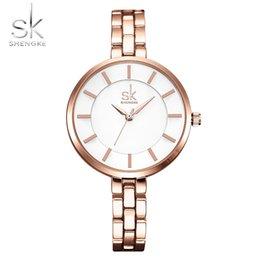 Wholesale Female Wrist Watches Australia - Shengke New Women Bracelet Wrist Watches Simple Girls Fashion Geneva Quartz Clock Female Wristwatch Relogio Feminino