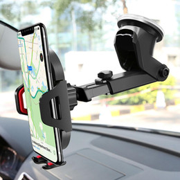 Wholesale Car Phone Holder Windshield Suction Car Mount Mobile Phone stand Universal Support Cell in Car Air Vent Mount Stand windscreen bracket