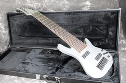 Discount white guitar black hardware - 10 Strings Electric Bass Guitar Metal Gray Color Black Hardware Free Shipping Cost