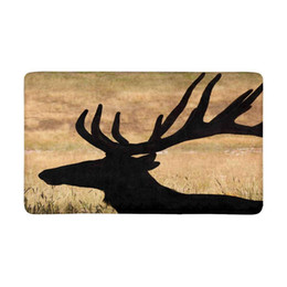 $enCountryForm.capitalKeyWord UK - Huge Bull Elk Silhouette with Velvet Antlers Indoor Doormat Non Slip Front Entrance Door Mat Rug