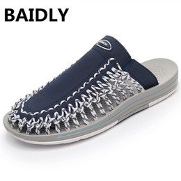 new design casual sandals Australia - BAIDLY New Arrived Summer Sandals Men Shoes Quality Comfortable Men Beach Sandals Fashion Design Casual Slipper Shoes