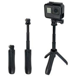4k gopro 2019 - Handheld Mini Tripod Mount Selfie Stick Extendable Monopod for Gopro Hero 7 6 5 4 3+ SJCAM Xiaomi YI 4k EKEN H9 Sony Spo