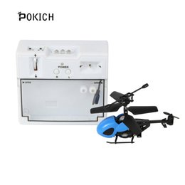 Radio Helicopter Toy Australia - Pokich RC 2CH Mini Helicopter Radio Remote Control Micro Drone 2 Channel Toy Gift Outdoor Machine Toys