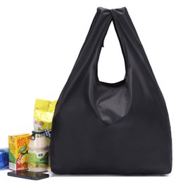 $enCountryForm.capitalKeyWord UK - 2019 ECO black folding Polyester Reusable Tote Foldable Shopping Bag Women Men Package Buy vegetables traveling
