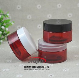 $enCountryForm.capitalKeyWord Australia - 30 grams red PET Jar, 30ml Pill Container Plastic Medicine Box with Black white clear Cover,30g Food Grade Material PET Jar