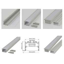 Linear flange aluminium led profile and 65mm wide T type led channel for ceiling or surface mounted light style extrusion for wall on Sale