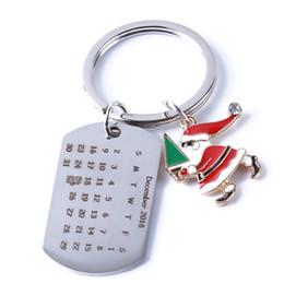 $enCountryForm.capitalKeyWord Australia - PENGBIN Christmas Calendar Keychain Santa Claus Snowman Pendant Keyring Key Holder Handbag Cellphone Car Key Pendant