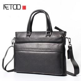 Discount cowboy shoulder bag - AETOO Men Business Handbag Headband Cowboy Crossed Square Korean Fashion Slanting Shoulder Bag #645086