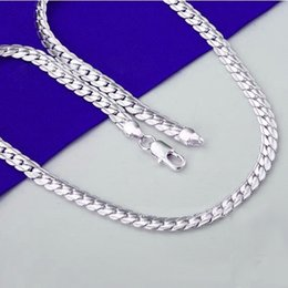 925 silver chains Australia - 5mm Fashion Chain 925 Silver Necklace Men Jewelry Hot Sale hip hop Full Side Necklace