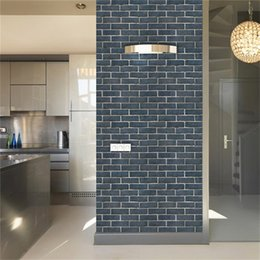 $enCountryForm.capitalKeyWord Australia - Imitation Brick Pattern 3D Wall Stickers Waterproof Anti-oil Self-adhesive Wallpaper For Living Room Kitchen TV Backdrop Decor