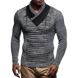 $enCountryForm.capitalKeyWord NZ - Men's Sweater Knitted Shawl Turtleneck Sweater Pullover Winter Hip Hop Streetwear Fashion Long Sleeve High Quality Man's