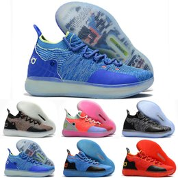 4c5aec7aaf81 Kids Kd Kevin Durant Shoes Australia - Men 11 Low black Shoes white Red  Grey 11s