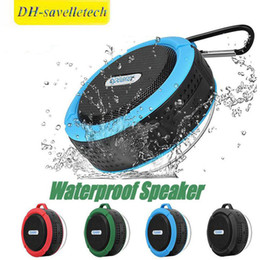 $enCountryForm.capitalKeyWord Australia - C6 Speaker Wireless Bluetooth Speaker Waterproof Shower Speaker Stereo Music Player With Suction Cup Retail Package