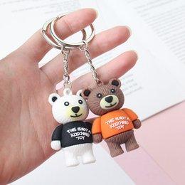 392787ee2 New 3D cartoon doll keychain Cute Little Bear keys pendant Key ring Kids  Birthday Party Gifts