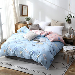 queen pink comforter cover 2020 - Light Blue Print Duvet Cover Comforter Quilt  Case 100% Cotton Soft With Zipper Twin Full Queen King Double Single Size