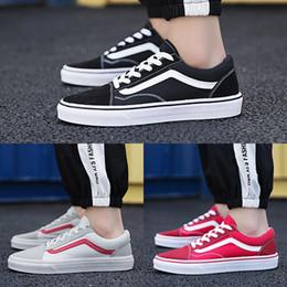 a3a27562f6 Van Shoes Red Australia - 2019 Original Vans old skool sk8 hi mens womens  canvas sneakers