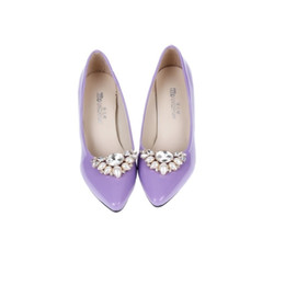 772995b048146 Shoes New Women Flower Charms High-heel Pumps Flats Accessory Crystal  Diamond Shoe Clips Bridal Wedding Decoration Buckle 1pair