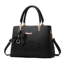 $enCountryForm.capitalKeyWord Australia - Women Bag Vintage Handbag Casual Tote Fashion Women Messenger Bags Shoulder Top-handle Purse Wallet Leather 2019 New Black Blue Y190620