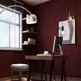 Bedding Sales Australia - Hot Sale Non-woven Solid Wine Red Wallpaper Vintage Mottled Wallpaper For Bedding Room Living Room Gray Green Beige Blue
