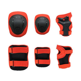 $enCountryForm.capitalKeyWord Australia - 6pcs set Skating Cycling Roller Protective Gear Set Knee Pads Elbow pads Skateboard Ice Skating Wrist Protector For Kids red #8