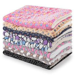 Aluminum blAnkets online shopping - Hairy Soft Printing Dog Pad Pet Mats Cat Blanket Nest Flannel Stone Winter Warm Pet Supplies tt UU