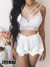 $enCountryForm.capitalKeyWord NZ - Exotic Clothes Bandage Bras Women Summer Crop Tops Front Cross Womens Babydoll Brassier Bustier Top Female Lace Bras