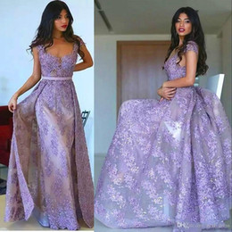 $enCountryForm.capitalKeyWord NZ - Turkey Lavender Dubai Arabic long formal mermaid prom dresses Overskirt 2019 evening gowns cocktail party dresses robes de soirée