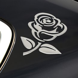 $enCountryForm.capitalKeyWord Australia - FORAUTO Flower Car Stickers 3D Cutout Rose Reflective Car Body Decor Universal Car-styling Auto Motorcycle Stickers