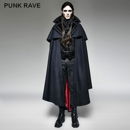 $enCountryForm.capitalKeyWord Australia - Punk Rave Blue Gothic Vampire Rock motocycle style fashion Cape Coat Jacket Y709,Party Cosplay