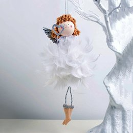 Discount christmas elf dolls - 2020 New Year Lovely angel girl Elf Doll Xmas Gift Christmas Tree Decoration Hanging Pendant Christmas Party Decor