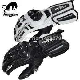 Leather Gloves For Men Australia - For Furygan Motorcycle Leather Gloves AFS Moto GP Gloves Carbon Racing Black White Riding