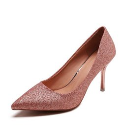 Designer Dress Shoes Sequined pumps women stiletto heel pointed toe wedding  dancing party lady high heels dress silver golden e1a2a91e6a96