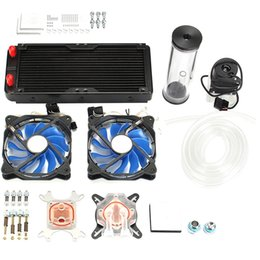 $enCountryForm.capitalKeyWord NZ - Diy Pc Water Cooling Kit With 240Mm Water Row + Cpu Cooling System Kit Computers Radiator Pump Reservoir Heat Sink