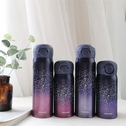 bounce cup Canada - 350ml 500ml Starry sky Bounce Cups stainless steel vaccum insulated water bottles for gift portable leakproof Bounce bottles for outdoor A07