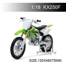 $enCountryForm.capitalKeyWord Australia - 1:18 Motorcycle Models Kawasaki KX250F KX 250 F Diecast Moto Miniature Race Toy For Gift Collection