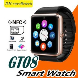 bluetooth smart watch sim Australia - GT08 Bluetooth Smart Watch with SIM Card Slot and NFC Health Watchs for Android Samsung and IOS Apple iphone Smartphone Sport Bracelet