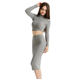 $enCountryForm.capitalKeyWord Australia - Dresses For Womens 2017 New Arrived Autumn Winter Solid Sexy Turtleneck Long Sleeve Black Grey Red Female Dresses Women Clothes