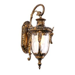 Lamp gate online shopping - Outdoor Waterproof European Style Antique Garden Lamp Vintage LED Garden Wall Light LED Bracket Light for Yard Main Gate
