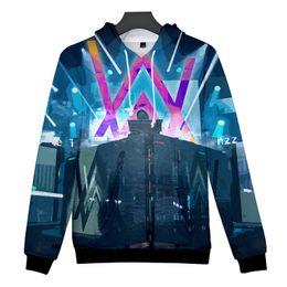 a436c4c86 Alan Walker 3D digital Double sided printing Hoodie Sweater Spring  Sweatshirts Loose type Sportswear not fade baseball jackets