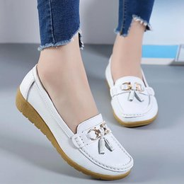 Leather cutout shoes online shopping - Summer shoes flats spring women flats shoes women genuine leather flats ladies shoes female cutout slip ballet flat