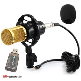 karaoke cables NZ - BM 800 Condenser Microphone For Computer Wired 3.5mm XLR Cable With Shock Mount Studio Microphone For PC Karaoke BM800 Mic