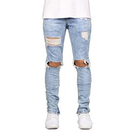 $enCountryForm.capitalKeyWord UK - MORUANCLE Men Hi Street Destroyed Jeans Pants Streetwear Hip Hop Ripped Denim Trousers Distressed Jean Joggers With Big Holes