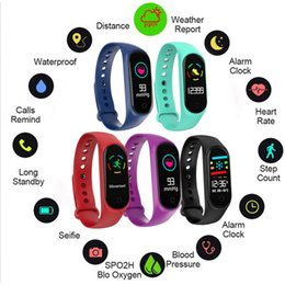 $enCountryForm.capitalKeyWord NZ - Fashionable Smart Bracelet Bluetooth Smart Watch Waterproof M3S Smartwatch Lightweight Heart Rate Wrist Watch Outdoor