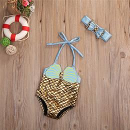 0a9452f9fd Kids swimwear one piece children swimsuit girls mermaid bathing suit cute  bikinis mayo headwear bow baby swimming clothing set