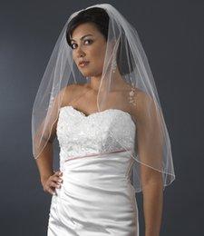$enCountryForm.capitalKeyWord NZ - New Real Picture Best Selling Elegant Luxury One Layer Pencil Edge Beaded WeddingVeil With Alloy Comb Bridal Veils Custom White Elbow Length