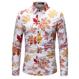 494d6a33186 Men s fitted floral shirt online shopping - Shirt Men Spring New Floral  Print Slim Fit