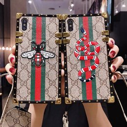 $enCountryForm.capitalKeyWord NZ - luxury brands designer phone cases for iphone 11 Pro Max 6s 7 8 plus XS Max XR Fashion Paris show models Embroidery snake mobile phone case